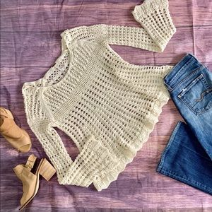 Free People crochet top small